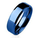 Blauwe dames ring